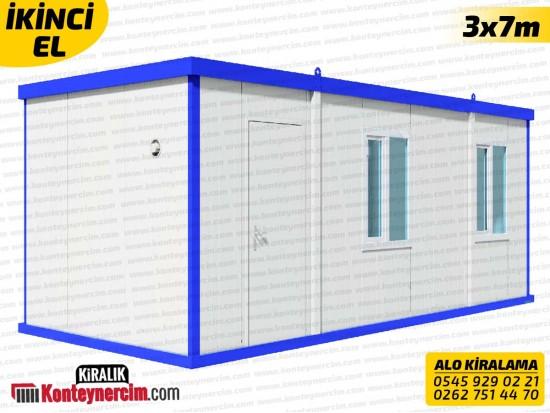 İki Odalı, WC+DUŞ ve Mutfaklı 3x7m Kiralık Konteyner - İKİNCİEL