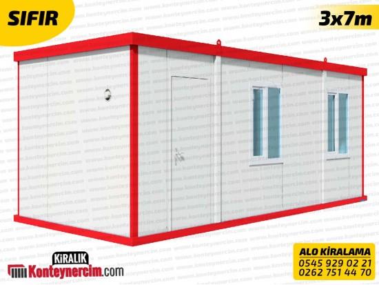 İki Odalı, WC+DUŞ ve Mutfaklı 3x7m Kiralık Konteyner - SIFIR
