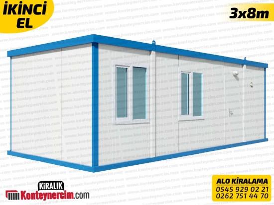 İki Odalı, WC+DUŞ ve Mutfaklı 3x8m Kiralık Konteyner - İKİNCİEL