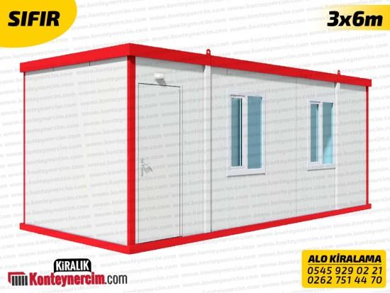 İki Odalı, WC+DUŞ'lu 3x6m Kiralık Konteyner - SIFIR