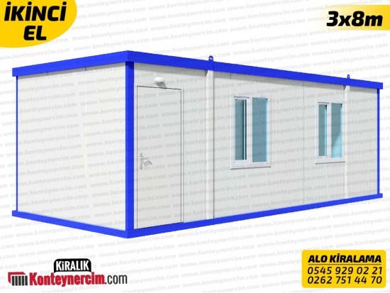 Tek Odalı, WC+DUŞ'lu 3x8m Kiralık Konteyner - İKİNCİEL