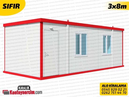 Tek Odalı, WC+DUŞ'lu 3x8m Kiralık Konteyner - SIFIR