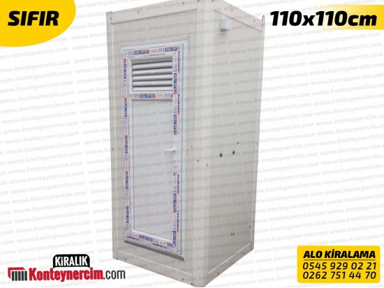 110x110cm Kiralık Tekli WC, Tuvalet Kabini - SIFIR