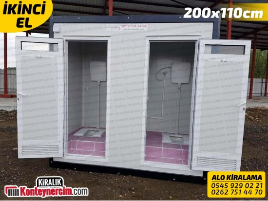 200x110 Kiralık 2'li WC, Tuvalet Kabini - İKİNCİEL
