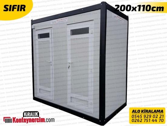 200x110cm Kiralık 2'li DUŞ ve WC Kabini - SIFIR