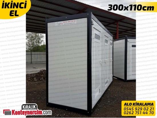 300x110cm Kiralık 3'lü DUŞ Kabini - İKİNCİEL