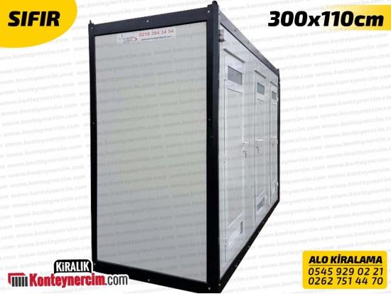 300x110cm Kiralık 3'lü DUŞ Kabini - SIFIR