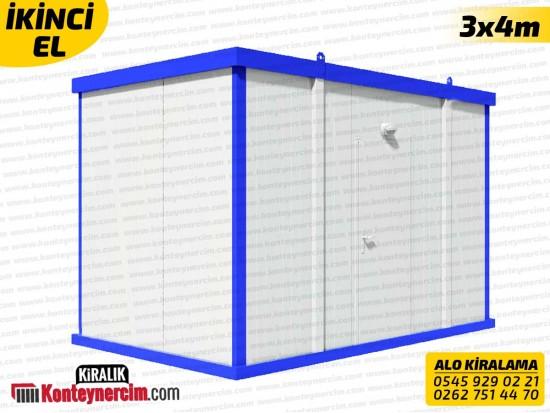 3x4m Koridorlu Kiralık 4'lü WC, Tuvalet Konteyneri - İKİNCİEL